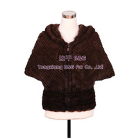 BG30520  2014 Knitted Mink fur Jacket Natural Mink fur Winter Women Coat With Hood