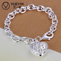 Jewelry Wholesale 10pcs/lot H269  Latest Women Classy Design 925 silver plated bracelet Factory Direct Sale