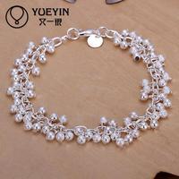 Jewelry Wholesale 10pcs/lot H232  Latest Women Classy Design 925 silver plated bracelet Factory Direct Sale
