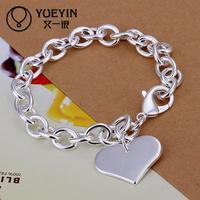 Jewelry Wholesale 10pcs/lot H278  Latest Women Classy Design 925 silver plated bracelet Factory Direct Sale