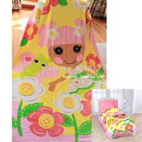 Original Mini Lalaloopsy Blossom Flowerpot Hugs Plush Blanket Super Soft Cartoon Coral Fleece Fabric Blanket On The Bed For Kids