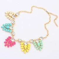 Min. Order $8.8(Mix Orders) Wholesale 2014 New Europe America Fashion Bohemia Style Drop Pendant Women Choker Necklaces FN0103