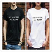 AMERICAN HORROR STORY All Monsters Are Human T Shirt Men&Women T-shirt  Movie Tshirt free shipping