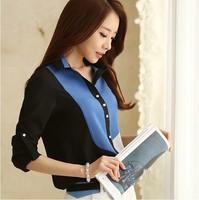 Blusas Femininas 2014 Women Blouses Roupas New Fashion Blouse Lady Casual Long Sleeve Lapel Linen Cotton Plus Size Female Shirt