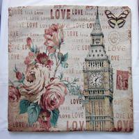free shipping London souvenirs jacquard cushion cover pillowcase vintage London Big Ben cushion cover