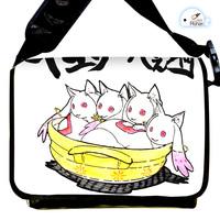 Anime Cartoon Puella Magi Madoka Magica Incubator Kyuubee Canvas Strap Purse / Bag / Oblique cross package Package / Packet