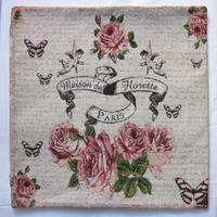 free shipping France souvenirs jacquard cushion cover pillowcase vintage rose cushion cover