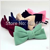 free shipping  many colors   women girl cute Super handmade cloth headband bow hair bands hairpin headdress Korean candy color