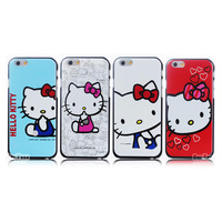 """New Arrival Cute Cartoon Case for apple iphone 6 4.7"""" inch Hard Mobile Phone Cases Cover KT Cats Free Shipping"""