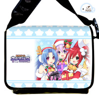 Japanese Anime Cartoon Hyperdimension Neptunia Person Canvas Strap Purse / Bag / Oblique cross package Package / Packet