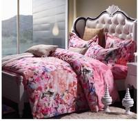 jacquard fabric 100% cotton figured 4-piece printed comforter bedding sets bedding sheet bedspread / pillowcase CMBL