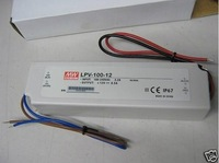 LPV-100-12;12V/8.5A meanwell band waterproof switch mode led power supply;AC100-240V input;12V/102W output