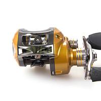 Free Shipping 11 BB 6.3:1 Left Hand Baitcasting Fishing Reel Bait Casting Baitcast Reels Gold