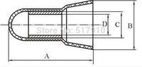 1000pcs ce-5X Terminal cap / CE Series / UL / terminals / pressure line cap / medium access rotating terminal