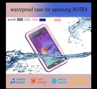Free shipping Waterproof Case For Samsung note 4 Mobile Phone Case Protective Cover Shell For Samsung note 4