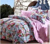 jacquard fabric 100% cotton figured 4-piece printed comforter bedding sets round bedding sheet bedspread / pillowcase HWFF