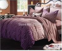 jacquard fabric 100% cotton figured 4-piece printed comforter bedding sets bedding sheet bedspread / pillowcase FFRM king