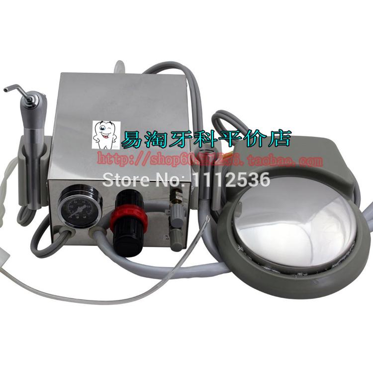Dental Lab Portable Turbine Unit Air Compressor 3 way Syringe Handpiece 4 Holes(China (Mainland))