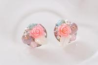 Fashion Trendy silver earrings shell flowers sterling silver jewelry for women