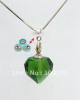 Free ship Gary's green crystal QWE803 lazurite/azure stone heart pendant necklace 2012, bulk!!!!!!!