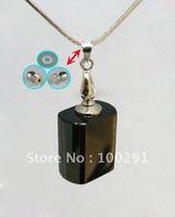 Bulk ## hot selling crystal necklace AQE10 /Perfume bottles pendant necklace /essential oil bottle transparent square shape