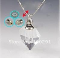 Free ship Gary's clear crystal QWE801 lazurite/azure stone heart pendant necklace 2012, bulk!!!!!!!
