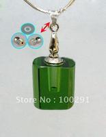 Bulk TOP SELLING crystal necklace AQE08 /Perfume bottles pendantnecklace /essential oil bottle transparent square shape