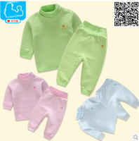 Free shipping 2014 new winter baby too thick warm clothing baby boys and girls two pcs sets cute full sleeve wear newborn sets