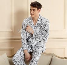New Coming Spring And Autumn  men combed cotton long-sleeved knit pajamas suits tracksuit home pajamas men pajamas(China (Mainland))