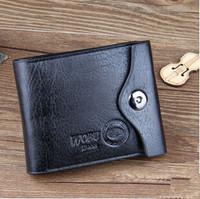 2015 New Brand Male Genuine Leather Brief Fashion Short Design Men Wallets desigual purses Card Holder Cowhide Men Wallets