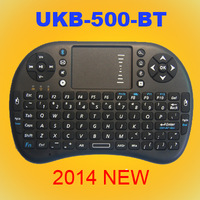 2014 Newest bluetooth Wireless Mini Keyboard UKB-500-BT with Touchpad  QWERTY 92 key for HTPC Android IOS WINDOWS LINUS TV BOX