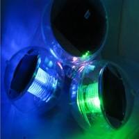 10pcs/lot 1pcs LED colorful lamp light control colorful LED solar ball lights IP68 waterproof Float on water Solar panel