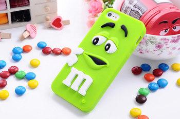 Для iphone 4 4S чехол M и M , шоколадные конфеты резиновые силикон мультфильм сотовый телефон чехол футляр в iphone4s
