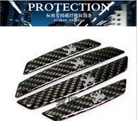 3D carboon fiber Car Door Protector /Fiber car Door side Edge Protection Guards Stickers for peugeot 206/307/308/408/508/3008