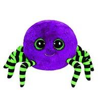 Free Shipping New Orignal TY  Beanie Boos Big Eye Animals Kids Plush Toys Purple Crawly  Halloween Spider For Children