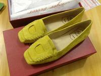 2014 hot sale! newest designed square toe innner increasing heel dress shoes application flower decoration