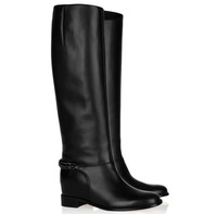 2014 New Fashion Brand Winter Woman Shoes Genuine Leather Knight High Long Motorcycle Boots,Knee-High Flat Heel Boots For Women