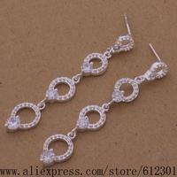 925 sterling silver earrings , 925 silver fashion jewelry , Multiturn ear hanging /daaalrha fqkaohra E142