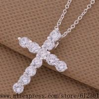 925 sterling silver Necklace 925 silver fashion jewelry pendant Cross /fgnanxua bqoakhva P329