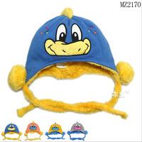 2014 New Cute little duck Infant Fur Hats baby boys Winter wool Hat with villi inner kids Earflap Cap 6 months-24 Months