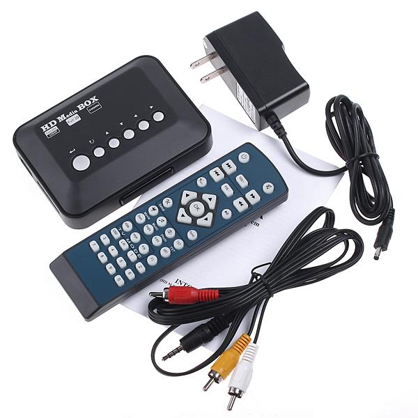 Mini TV Media Player 1080P HD USB HDMI VGA AV SD MMC RMVB MP3 AVI Divx MKV(China (Mainland))