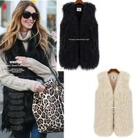 3XL 2014 New Fashion Women's Autumn Winter Suit Short Luxurious Warm Faux Fur Vest Jacket Shawl for Women Tops coletes de pele
