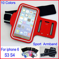 free shipping Reflective Waterproof Sports Running Armband Case Gym armband For iphone 6 6G 5 5S Cell Phone Arm Bag 10 colors
