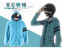 Tokyo Ghoul Kaneki Ken jacket coat sweater hoodie Zipper version COAT black / Blue hoodie