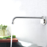 Retail - Luxury 304# Stainless Steel Kitchen Faucet, Cold Water Sink Tap, Steel Finish Kitchen Sink Tap, Free Shipping L15116
