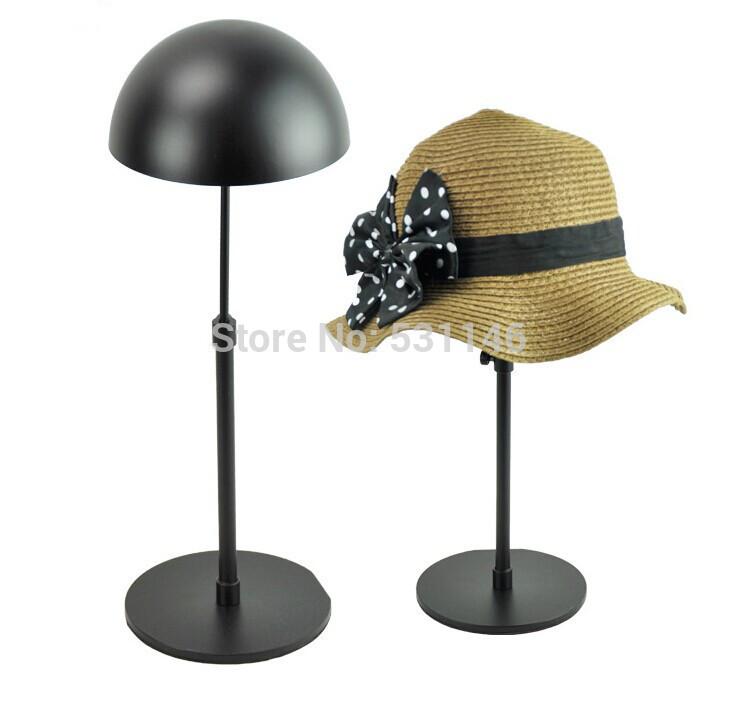 Adjustable Metal Hat Display Stand/Hanging hat rack display Black 5PCS(China (Mainland))