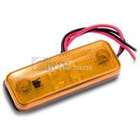 100PCS/LOT Waterproof Amber Red White  4 LED Side Marker Light Lamp for Trailer Truck Boat DC12V-24V