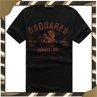 Free Shipping 3A Quality DSQ Brand T Shirt Letter Print NO.43 Style Shorts Tops &T-Shirt Autumn-Summer High Quality Man Tees