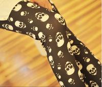 2014 New Arrived Fashion leggins  Imiation Jeans Material Trousers Seamless black milk The skull print  Leggings For Women