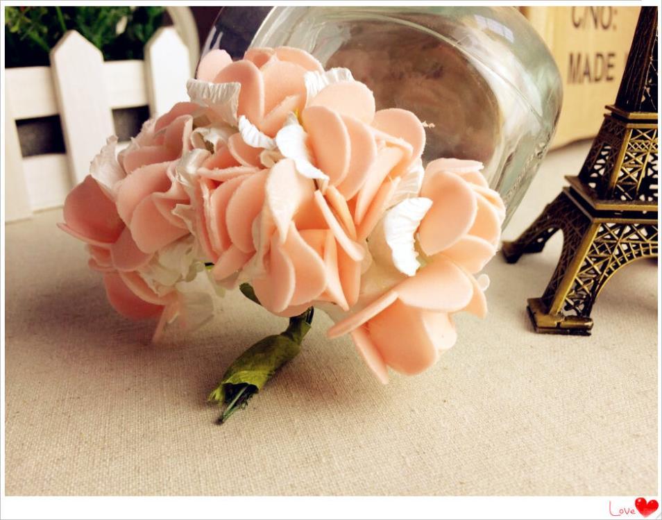 Free shipping!! Hot sale144PCS two-tone PE foam artificial rose flower / Gife box decoration / ornament foam flower(China (Mainland))